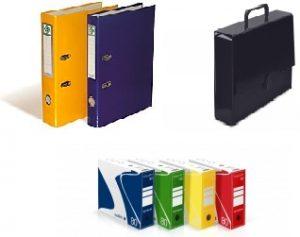 Aplankai, bylos, segtuvai, archyvinės dėžės