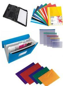 Aplankai, lentos, stovai ir dėklai dokumentams